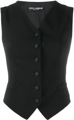 Dolce & Gabbana v-neck buttoned waistcoat