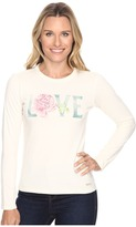 Life is Good Love Rose Long Sleeve Crusher Tee