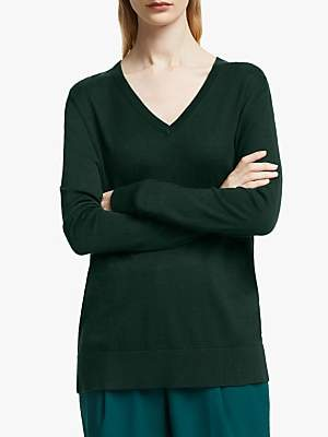 John Lewis & Partners Relaxed V-Neck Sweater