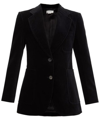 Victoria Beckham Single-breasted Cotton-blend Velvet Blazer - Black