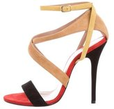 Jean-Michel Cazabat for Sophie Theallet Suede Ankle Strap Sandals w/ Tags