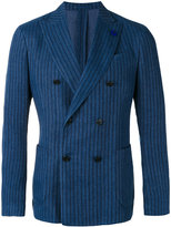 Lardini striped blazer - men - Cotton/Linen/Flax/Polyester - 48
