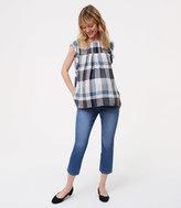 LOFT Petite Maternity Kick Crop Jeans in Indigo