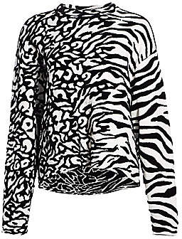 Proenza Schouler White Label Women's Mixed Animal-Print Jacquard Pullover