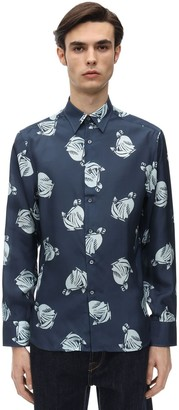 Lanvin Loose Fit Logo Printed Silk Shirt