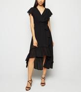 New Look Chiffon Stripe Ruffle Midi Dress
