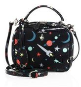 Mark Cross Laura Baby Space-Print Leather Camera Bag