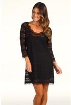 Joie Brea Lace Dress (Caviar) - Apparel