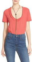 Free People 'Phoebe' Layered Look Cotton Tee
