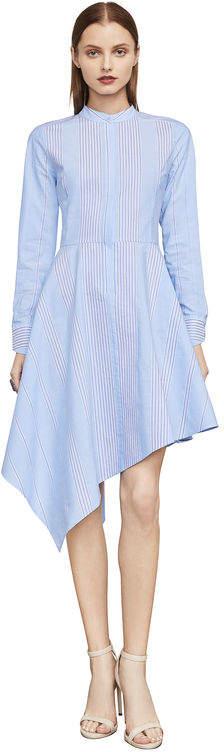 BCBGMAXAZRIA Rayanne Asymmetrical Shirt Dress