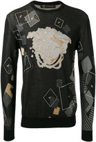 Versace Domino Foulard jacquard jumper - men - Cotton/Viscose - 50