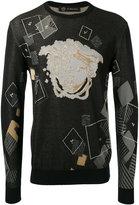 Versace Domino Foulard jacquard jumper