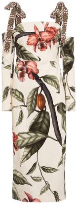 Johanna Ortiz Dense Jungle convertible cotton midi dress