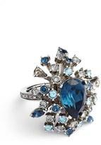 Oscar de la Renta Women's Tiered Swarovski Crystal Ring