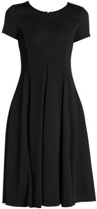 Giorgio Armani Stretch Cap Sleeve A-Line Dress