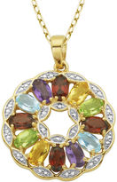 FINE JEWELRY Multi-Gemstone and Diamond-Accent Round Pendant Necklace