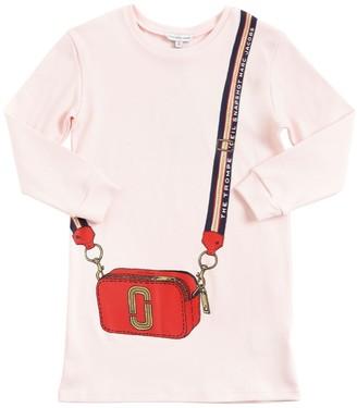 Little Marc Jacobs Bag Print Cotton Sweat Dress