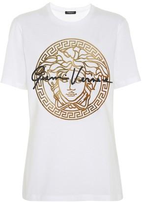 Versace GV Signature Medusa cotton T-shirt