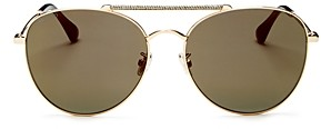 Jimmy Choo Women's Abbie Brow Bar Aviator Sunglasses, 61mm