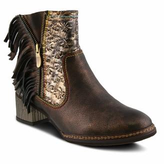 L'Artiste by Spring Step KAMI Bronze Multi Shoe US 9.5-10