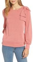 Halogen Women's Bow Knit Sweatshirt