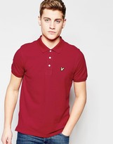 Lyle & Scott Polo Shirt with Eagle Logo in Ruby
