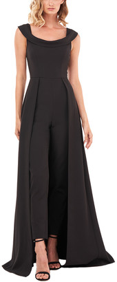 Kay Unger Sleeveless Solid Jumpsuit