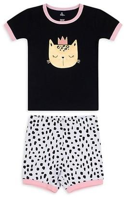 Petit Lem Little Girl's Girl's Cats 2-Piece Pajama Set