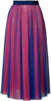MSGM Pleated Midi Skirt - Blue