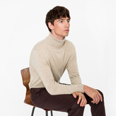 Paul Smith Men's Oatmeal Cashmere Roll Neck Sweater