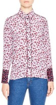 Sandro Women's Floral Print Silk Shirt