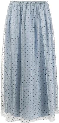 RED Valentino Glitter-Embellished Tulle Skirt