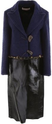Marni Two-Toned Pierce Detailed Coat