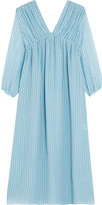 MiH Jeans Petaluma striped silk-georgette dress