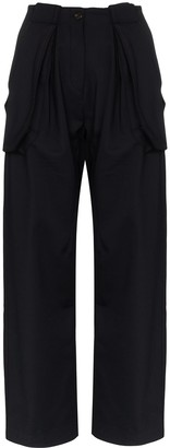 Wales Bonner Jose wide leg cargo trousers