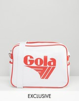 Gola Classic Redford Messenger Bag In White & Red