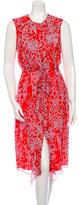 Carolina Herrera Silk Printed Dress w/ Tags