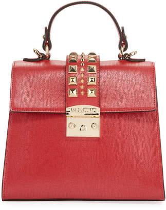 Mario Valentino Valentino By Cleo Studded Leather Satchel Bag
