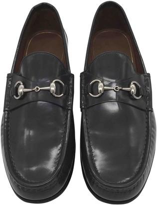 Gucci Mors Grey Patent leather Flats