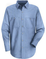 JCPenney Red Kap SP10 Micro-Check Uniform Shirt-Big & Tall