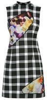 Christopher Kane Checked High Neck Dress