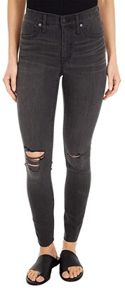 Madewell 9 Mid-Rise Skinny Jeans in Black Sea (Black Sea) Women's Jeans