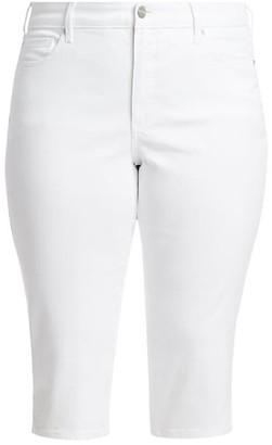 NYDJ, Plus Size Cool Embrace Lift Tuck Skinny Denim Capris