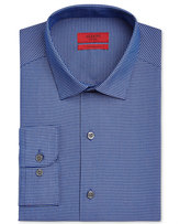Alfani Red Men's Fitted Blue Black Mini Gingham Dress Shirt, Only at Macy's
