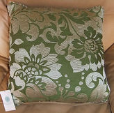 Martha Stewart Collection Martha Stewart Decorative Accent Pillow Olive Green Embroidery 20x20 Square