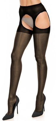 Glamory Plus Size Plaisir Ouvert 20 Suspender Pantyhose