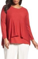 Eileen Fisher Plus Size Women's Organic Linen Blend Swing Sweater