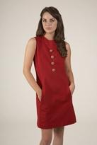 Corey Lynn Calter June Button Shift Dress in Ruby