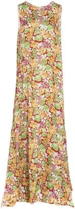 Plan C Floral Printed Maxi Dress