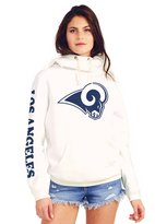 Junk Food Clothing Los Angeles Rams Cowl Neck Women's Hoodie